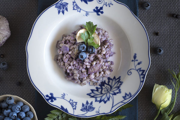 BLUEBERRIES AND PORCINI ORZOTTO