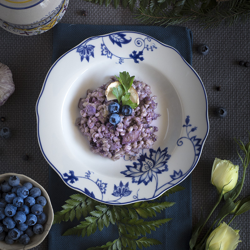 blueberries orzotto