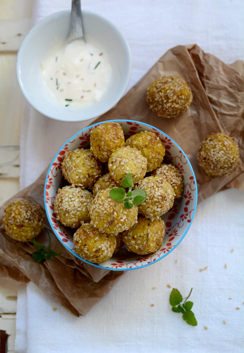 MILLET AND CHICKPEA CROQUETTES